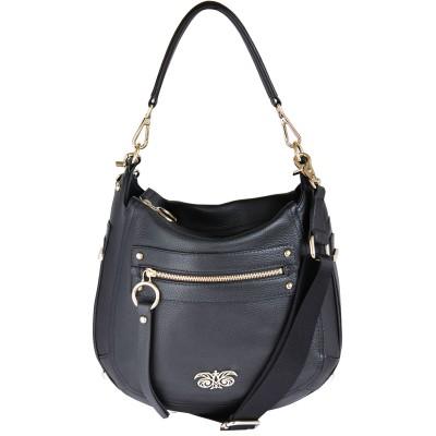 """sac """"HOBO"""" double porté - Noir"""
