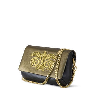 lambskin pouch embroidery