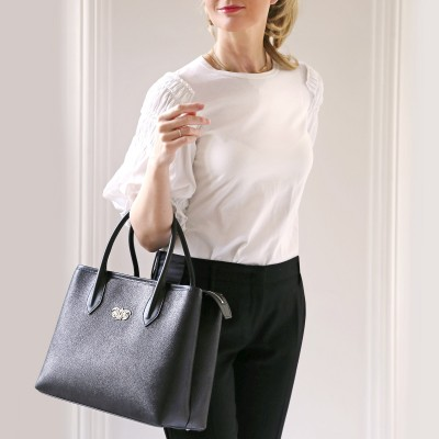 "Leather ""BIG TOTE"" - Black"
