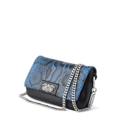 small handbag in python leather