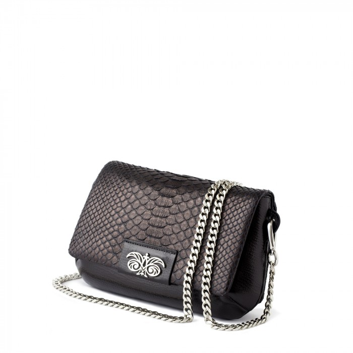 small handbag in python leather