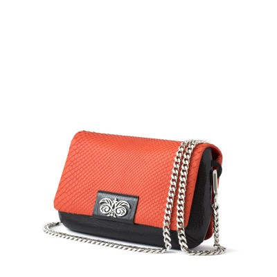red handbag in python