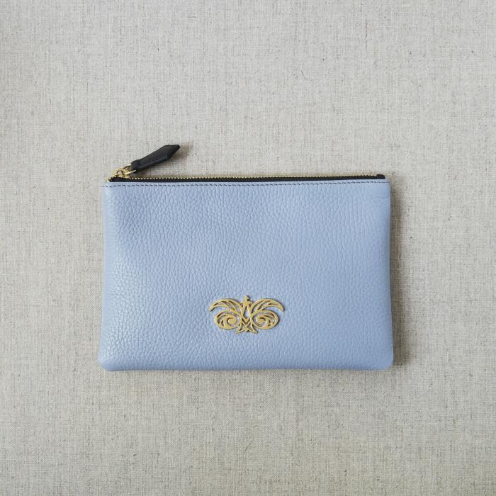 """Zipper pouch in grained calfskin """"JULIE"""""""