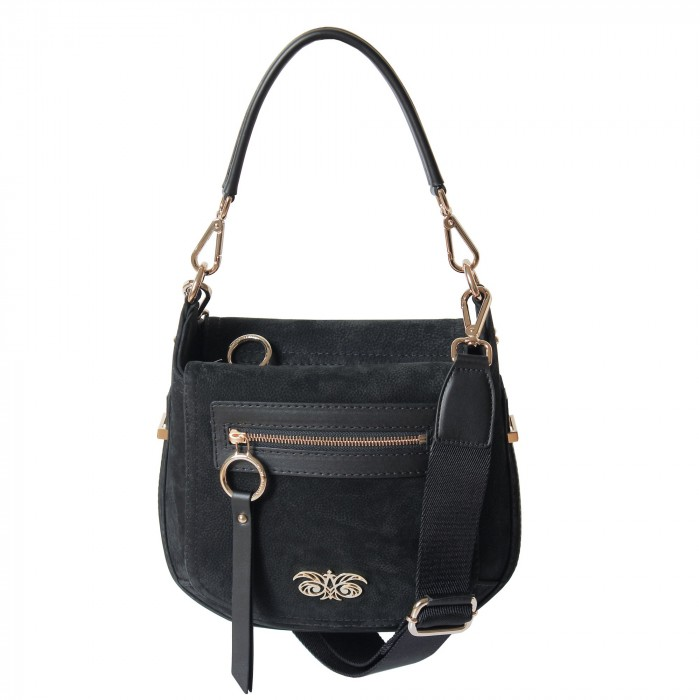 """shoulder bag """"small HOBO"""" in nubuck and leather"""