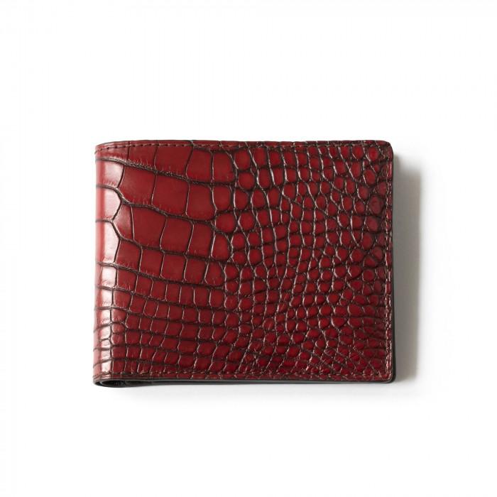 """""""SAINT GERMAIN"""" crocodile wallet"""