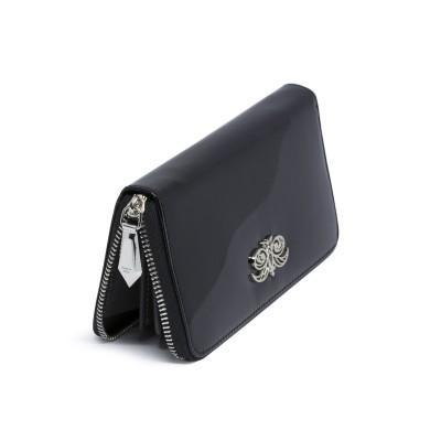 KYOTO, continental wallet in varnished leather, black color - back