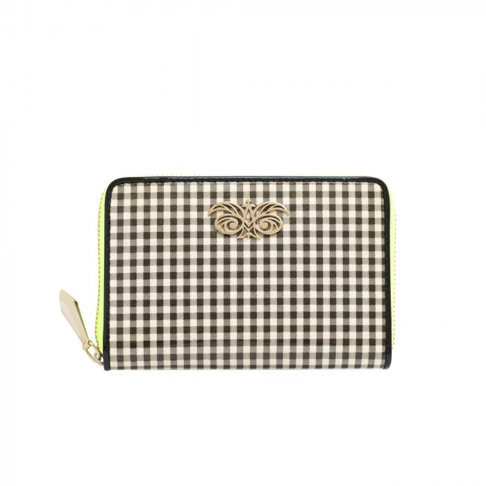 "Zip around wallet ""NEW YORK"" in vernis leather"