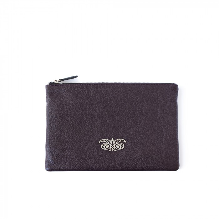 "zipper pouch ""OSLO"" in grained calfskin"