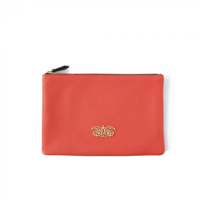 "zipper pouch in grained calfskin ""NEW OSLO"""