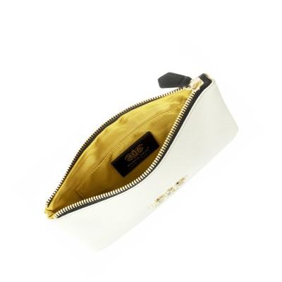 Zipper pouch in grained...