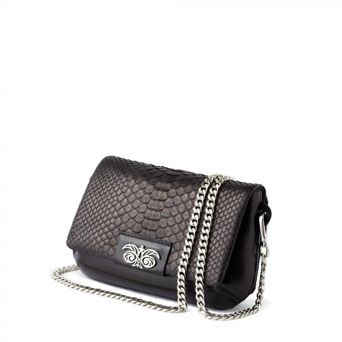 """clutch """"AVA Baby"""" in calf leather and python"""