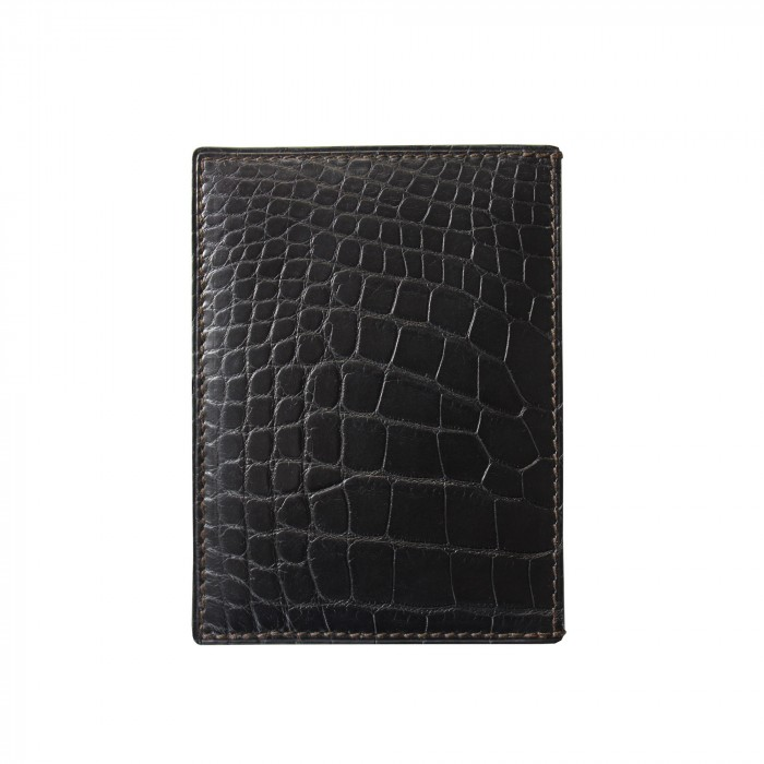 "crocodile skin wallet ""VERTICAL"""
