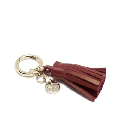 """Porte-clef """"POMPON"""" - Bordeaux"""