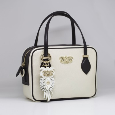 "bag decoration ""OWL"" - White"