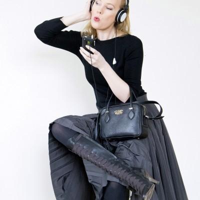 "Leather handbag ""JULIETTE""..."