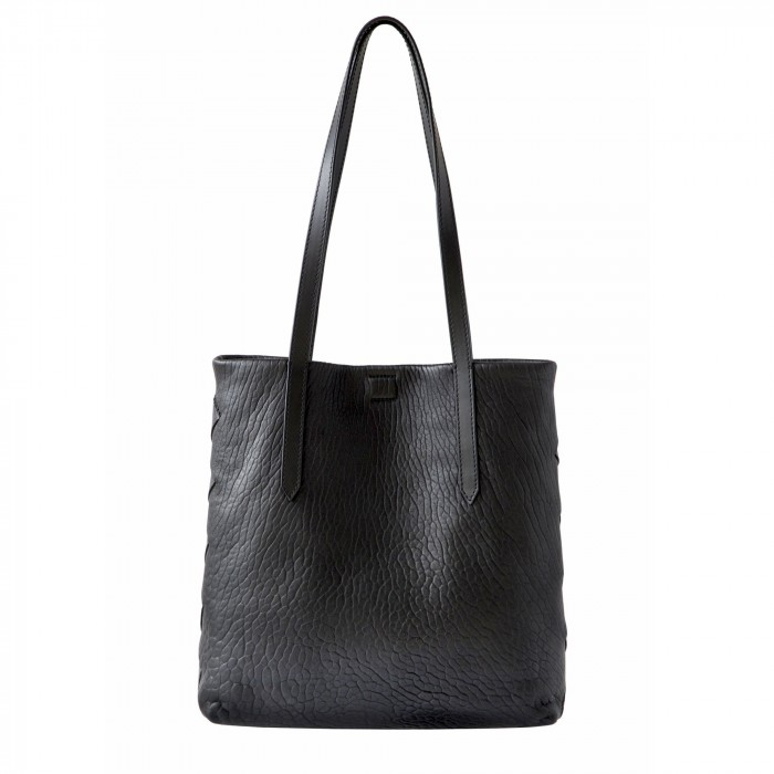 "Woven Tote ""SUZANNE"" in bubbled lamb - Medium"