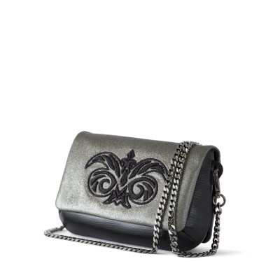 lambskin clutch embroidery