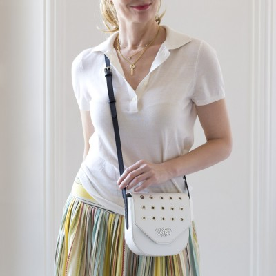 "small flap bag ""DINA"" - White"