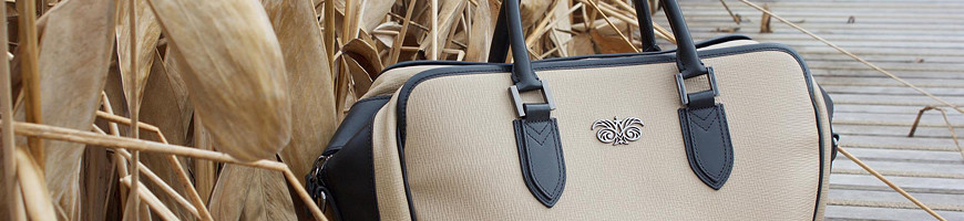 Luxury leather bag made in France for men, travel, business