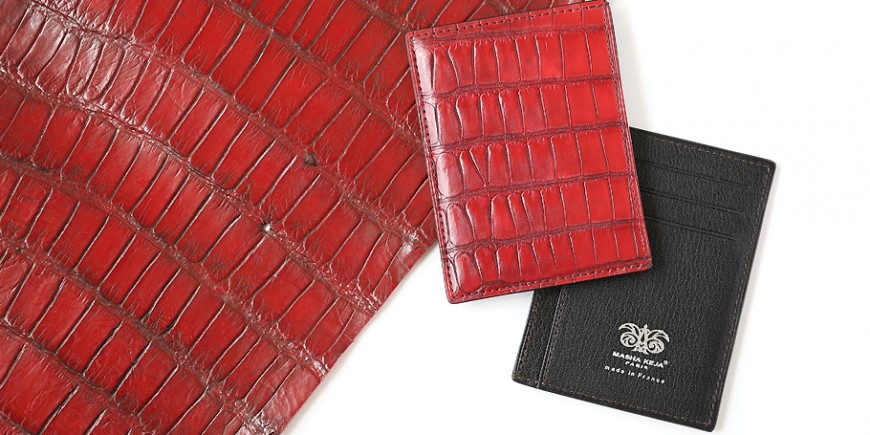 Man wallet in crocodile
