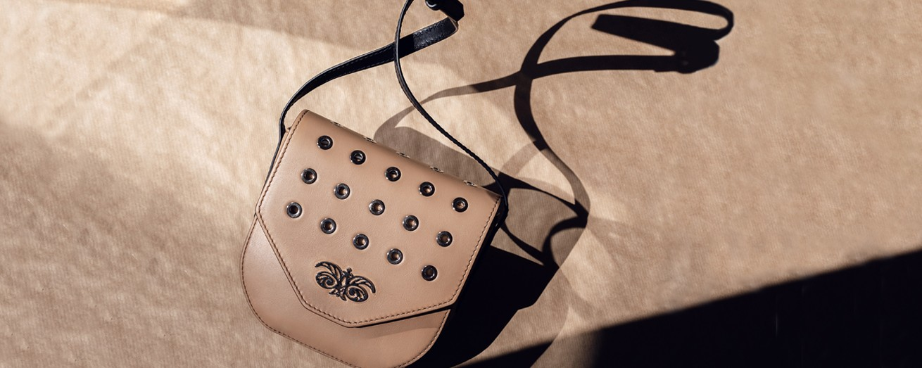 "LEATHER HANDBAG ""DINA"" IN CALF LEATHER"